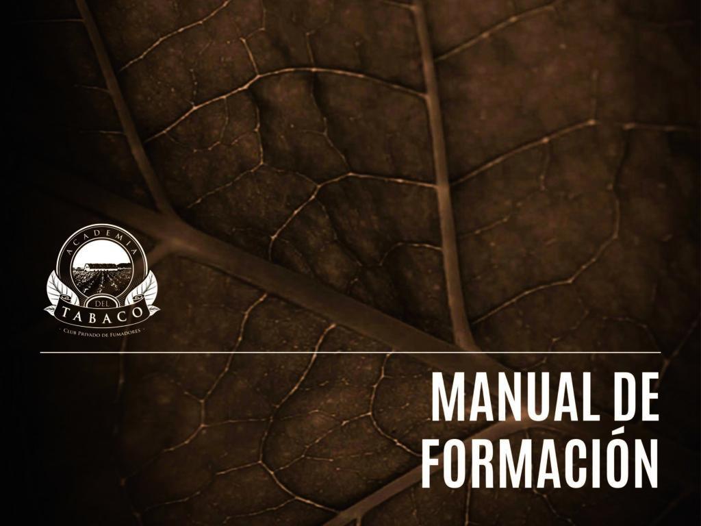 Portada del Manual de Formación en Tabaco elaborado por la Academia del Tabaco.