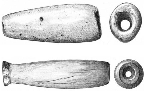Fragmentos de pipa procedentes del yacimiento de Offield Bar, cerca del río Snake y cerca del río Columbia, en el estado de Washington. Autor: Tammara Norton
