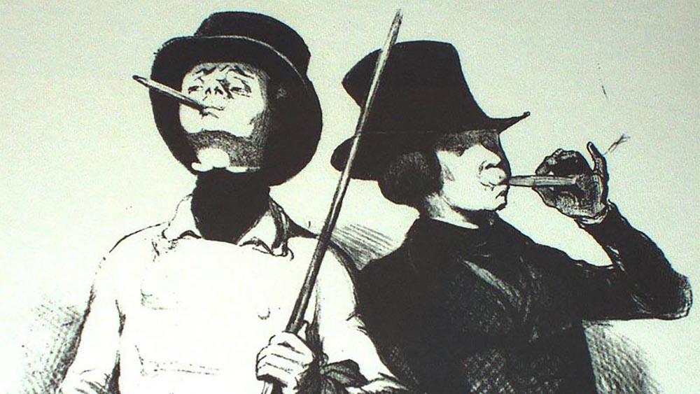 ACADEMIA DEL TABACO Le_Premier_Cigarre,_Les_Beaux_Jours_de_la_Vie,_by_Honore_Daumier